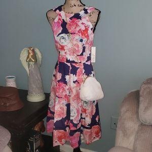 Eliza J Halter Cutout Pocket Floral Easter Dress 8